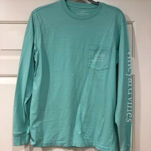 Vineyard Vines teal long sleeve size xs